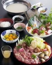 鶏豆乳鍋コース